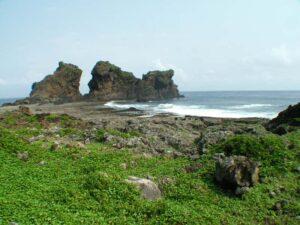 遠觀雙獅岩